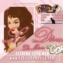 La Diva de México en un solo lugar; estrena sitio web
