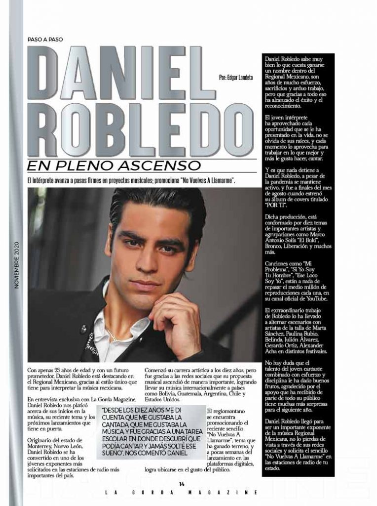 Daniel Robledo, La Gorda Magazine