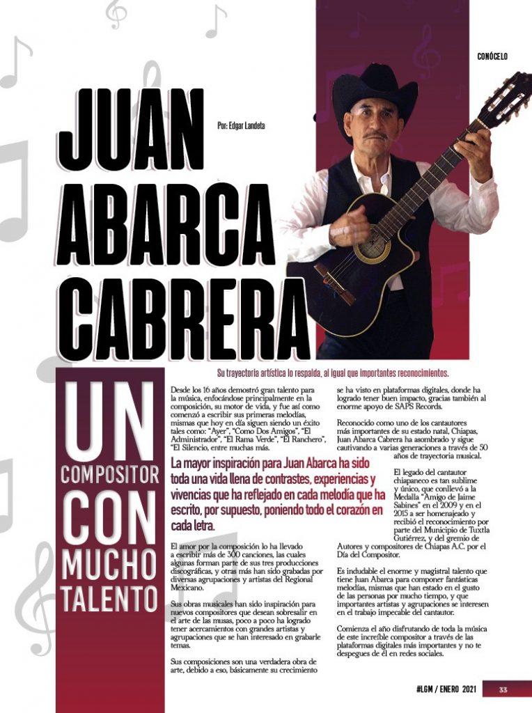 Juan Abarca Cabrera - Compositor