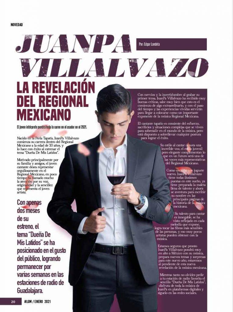 JuanPa Villalvazo, La Gorda Magazine Enero 2021