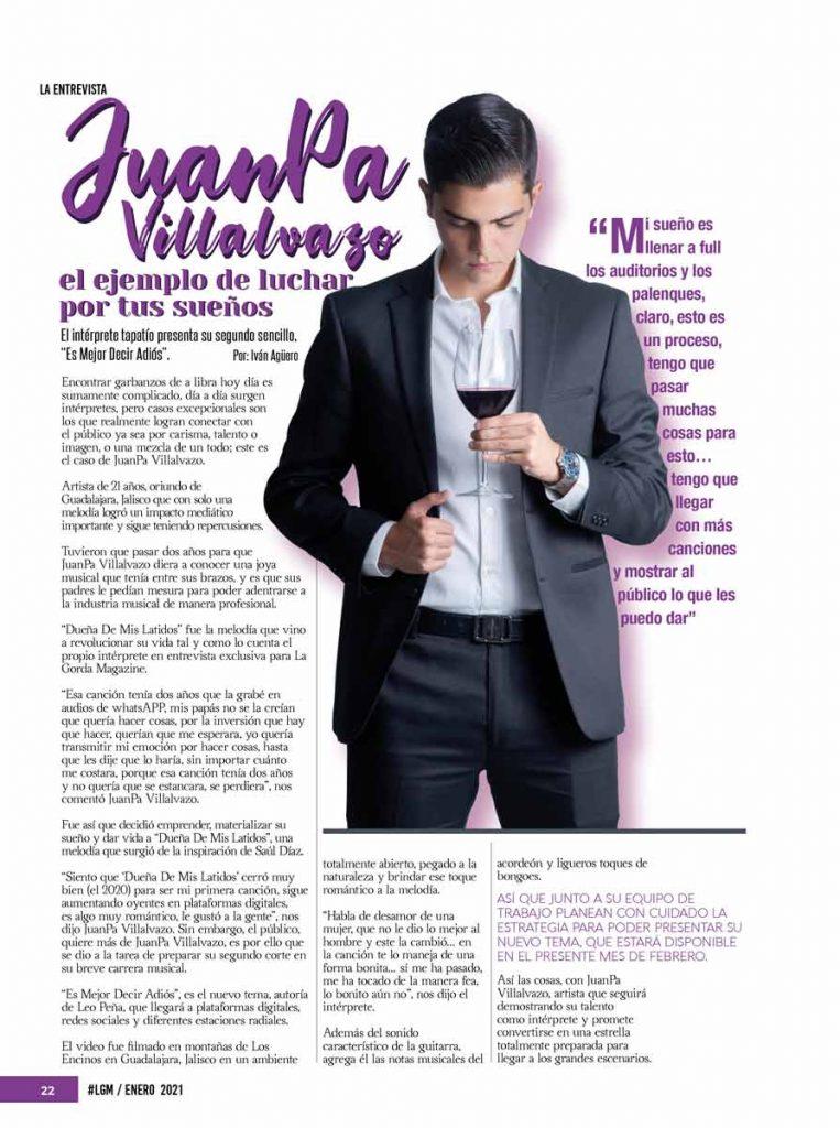 JuanPa Villalvazo, La Gorda Magazine Febrero 2021
