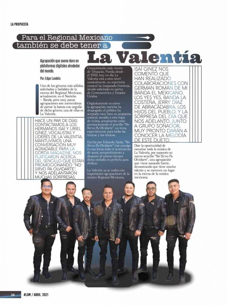 La Valentía, La Gorda Magazine Abril 2021