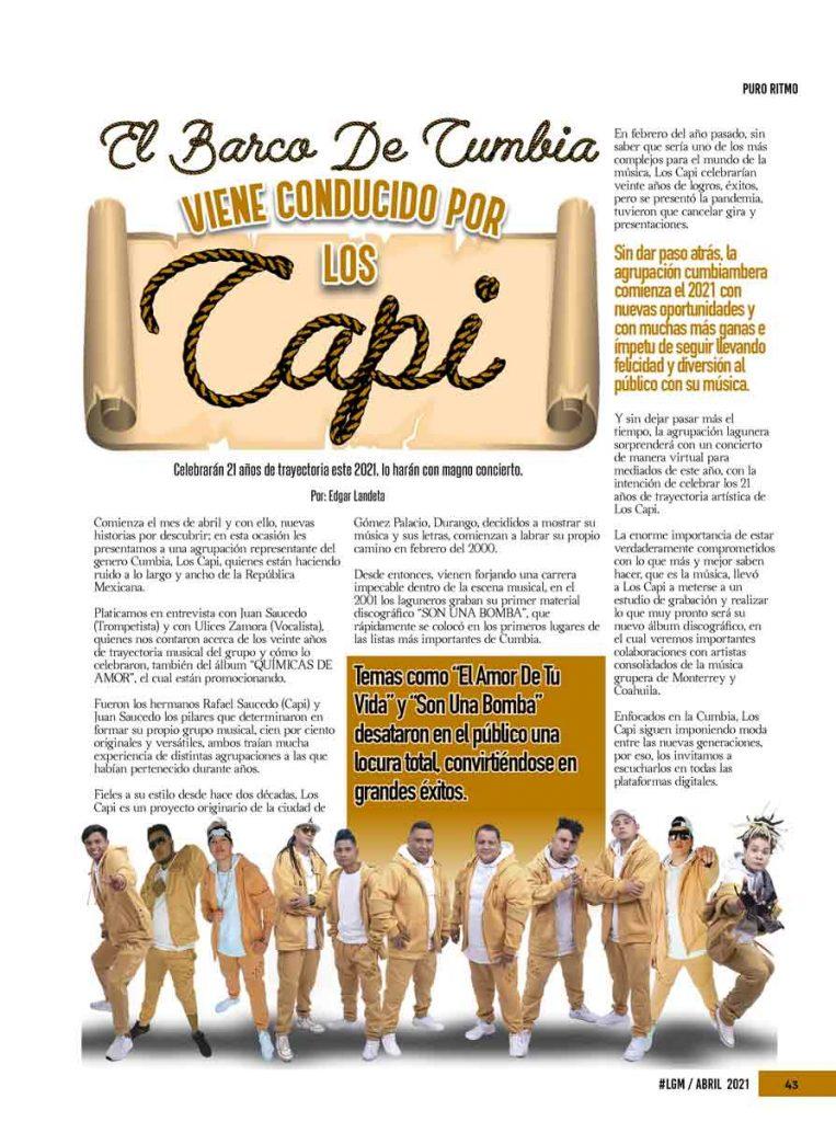 Los Capi, La Gorda Magazine Abril 2021